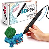 MYNT3D Super 3D Pen, 1.75mm ABS and PLA Compatible 3D Printing Pen