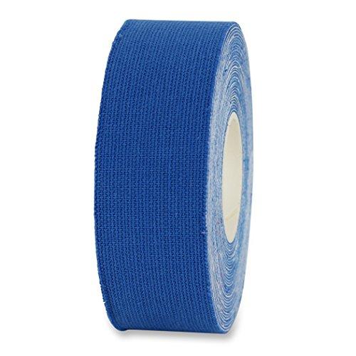 Kinesio Tape, elastische Bandage für Physiotherapie, Rehabilitation und Sportler, einzeln oder als 2-er und 5-er Set im Angebot (1 x Rolle, Blau, Breite 25 mm)