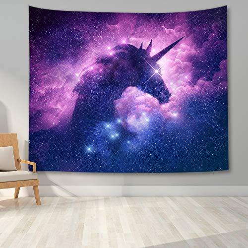 KHKJ Tapiz de Unicornio Decoración de Pared Tapices de Animales de fantasía Coloridos Manta Colgante de Pared para Dormitorio Sala de Estar Decoración para el hogar A3 230 * 180cm