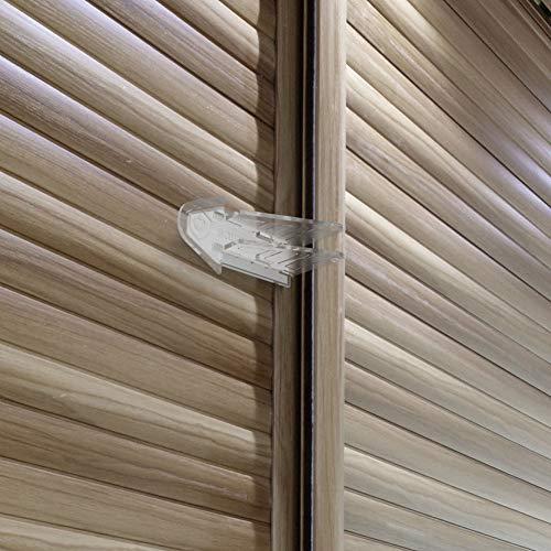 Safetynex Child Safety Sliding Door Lock for Closets, Patio, Windows, Glass Door Lock with 3M...