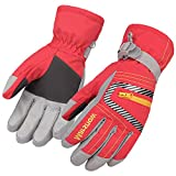 Magarrow Outdoor Winter Kids Ski Glove Warm Snowboard Boys Girls Water Resistant Fleece (Red, M(8~13Y))