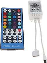 Perfk RGBW 40 Keys IR Remote Controller LED Strip Light Control Switch DC5V 12-24V