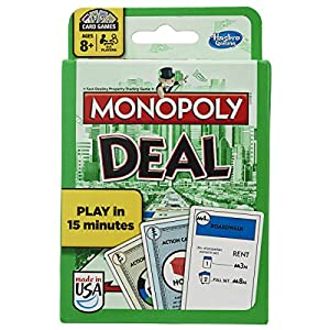New Monopoly Deal card game that is moving through Family Game Nights everywhere Collect 3 complete property sets but beware of the Debt Collectors, Forced Deals and Deal Breakers If you are looking for a fun family/friend game, this is it Now only p...