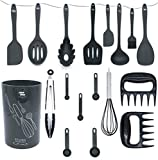 Kitchen Utensil Set With Holder - Silicone Kitchen Utensils - Cooking Utensils - Utensil Set - Silicone Cooking Utensils - Cooking Utensils Set - Silicone Kitchen Utensils - Spatula Set -18pcs
