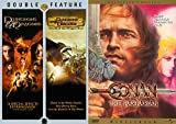 Thief Warrior King Fantasy Collection 3-Pack Conan The Barbarian + Dungeon & Dragons DVD / Wrath of the Dragon God Based on Role Playing Game Family Movie Triple Feature Bundle