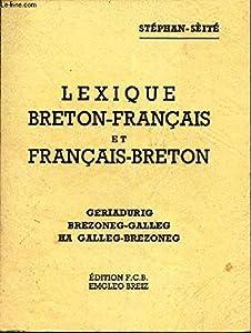 Book's Cover of Lexique breton-français et français-breton