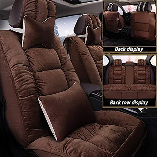 MMI-LX Piel de cordero caliente del asiento de coche cubiertas del asiento auto del cojín del amortiguador Protectores Interior Accesorios talla universal (Airbag compatible) for Citroen Todos los mod
