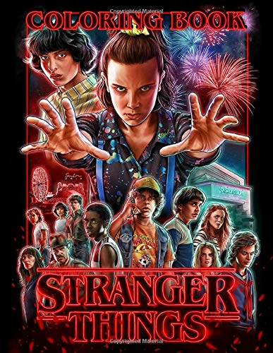 Stranger Things Coloring Book for Kids and Adults, Paperback (68 pages)