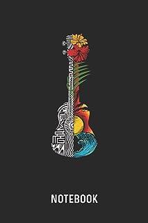 Notebook: Blank & Dotted Hawaiian Ukulele Guitar Journal (6