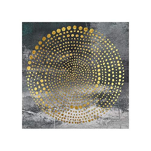 oioiu Cartel clásico Imagen Mural lámina de Oro Pintura al óleo Pintura Decorativa Mural Abstracto Escuela Dormitorio Pasillo Sala de Estar Mural sin Marco