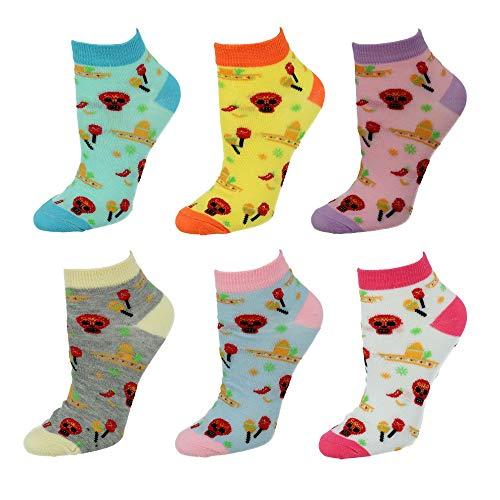 Nollia Cinco De Mayo Damen Socken, niedrig, mehrere Strümpfe Gr. Einheitsgröße, multi