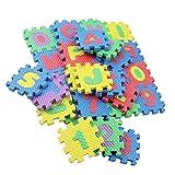 circulor 36 Pcs Puzzlematte Baby, Baby Puzzlematte Schaumstoff Puzzlematte Alphanumerisches Kriechendes Puzzlespiel Der Kinderkarikatur -