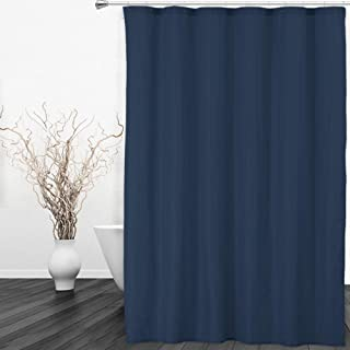 CAROMIO Hotel Quality 100% Waterproof Fabric Shower Curtain or Liner with Magnets for Bathroom, 72 x 72 inches, Navy Blue