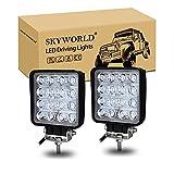 SKYWORLD 4 pollici 48W LED di inondazione barra luminosa di lavoro fari fendinebbia per fuoristrada 4WD camion del trattore Barca rimorchio per 4x4 SUV ATV (2 pezzi)