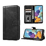 Luburs Samsung Galaxy A21S Hülle, Flip Tasche Handyhülle [Einzigartig Magnetverschluss] [Premium PU Leder] [Standfunktion] [Kartenfach] Schutzhülle Stoßfest case für Samsung Galaxy A21S