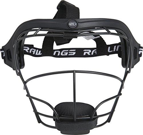 Rawlings Sporting Goods RSBFM-B Fielders Face Mask, Black, Age 12 & Up