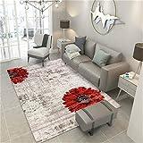 No Alfombra Home Designer Living Room Rug Modern Bordertwo Safflower Contemporary Durable Soft Carpet Traditional-160x230cm
