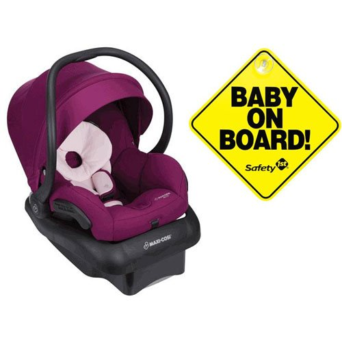 Review Maxi-Cosi Mico 30 Infant Car Seat - Violet Caspia with Bonus Baby on Board Sign