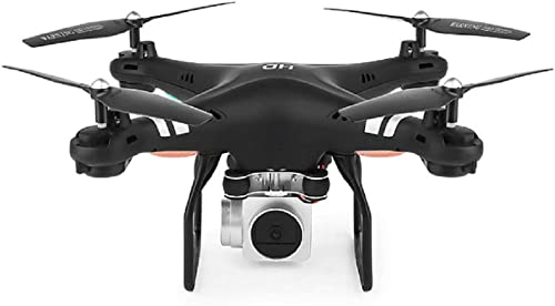 LinZec Hd Wide-Angle 1080P Aerial Remote Control Drone, Real-Time FPV Funktion, Esc Camera Fixed Four-Axis Flight Flying Model Toy, schwarz