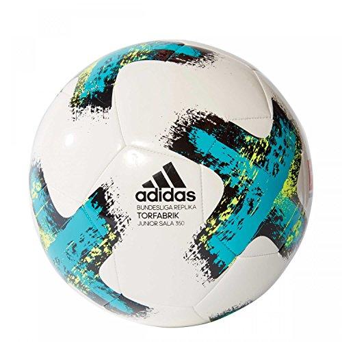 adidas Torfabrik Junior Sala 350 Fußball 2017/2018 Ball, Weiß, Futs