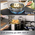Hiware Solid Stainless Steel Spider Strainer Skimmer Ladle for Cooking and Frying, Kitchen Utensils Wire Strainer Pasta…
