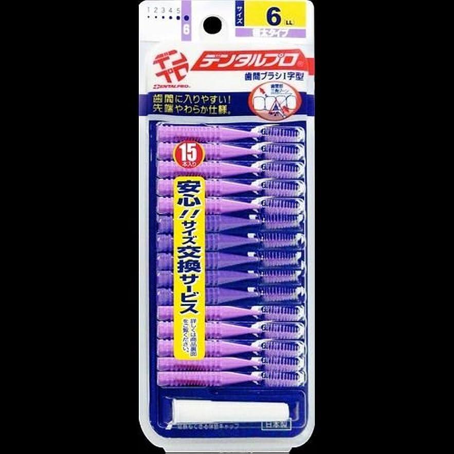 人道的追い越すドアミラーデンタルプロ 歯間ブラシ 15本入 サイズ6(LL) ×2セット