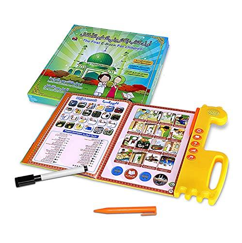 Niños Digital Libro de Aprendizaje con Pen Musulmán Arábica Leer Máquina Corán Electrónico Lectura Pen en inglés Arábica Juguetes educativos Libros por Niños