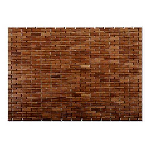 casa pura Tapis de Bain Mia en Bambou | Tapis de Sauna - 2 Coloris | 60x90cm | Dos antiglisse, Miel