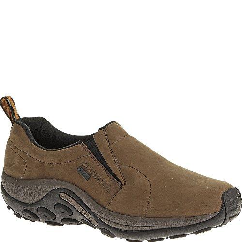 Merrell Men's Jungle Moc Nubuck Waterproof Slip-On Shoe,Brown,12 W US
