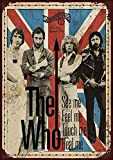 The Who Concert Eisen Malerei Wand Poster Metall Vintage