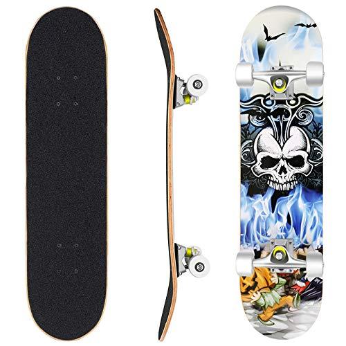 WeSkate Longboard Fishtail 40 Zoll Lange Cruiser Skateboard Komplett (101cm) für Erwachsene Jugendliche Kinder Jungen Mädchen