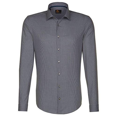 Seidensticker Herren BUSINESS KENT TAPE Businesshemd, Blau (blau 16), Kragenweite: 44 cm