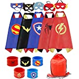 RioRand Kids Dress Up 5PCS Superhero Capes with Masks and Slap Bracelets for Boys Costumes Birthday Party Gifts bracelet boys Oct, 2020