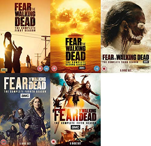 Fear The Walking Dead Complete Collection 1-5 DVD - Fear The Walking Dead Season 1,2,3,4,5 DVD Collection