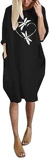 LOPILY 2019 Autumn Boho Dress Women Summer Long Sleeve Printed Short Mini Dress Soft Swing Dress