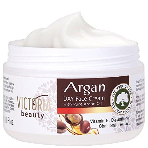 Victoria Beauty - Anti Aging Creme mit Arganöl, Augencreme gegen Falten und dunkle Augenringe, Gesichtscreme (1 x 50 ml)