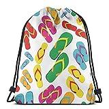 Mochila con cordón, chanclas de playa, hombres, mujeres, deportes, gimnasio, sacos, mochila, bolsas para viajar, gimnasio, yoga, playa, senderismo