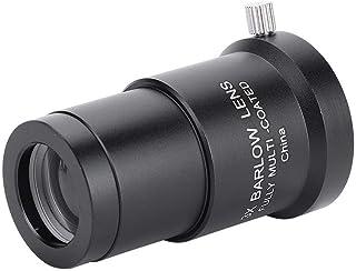 Qiterr 1.25 Inch 0.5X Focusing Reducer Thread M28 Lens Accessory Astronomical Telescope Accessories 0.5X Defocus Lens for Telescope Eyepiece