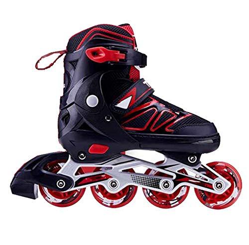 XJBHD Pattini in Linea per Donne e Uomo Carbonio Rollerblade Professionale Pattini a Rotelle Pattini Comodi Scarpe Speed Skating Ldeali per Principianti per Adulti Sport Outdoor red-38 to 41