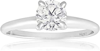 Round Diamond Solitaire Ring for women – 14k White Gold Diamond Solitaire Ring – 3/4Ct Round Diamond – (AGS Certified F-G,...