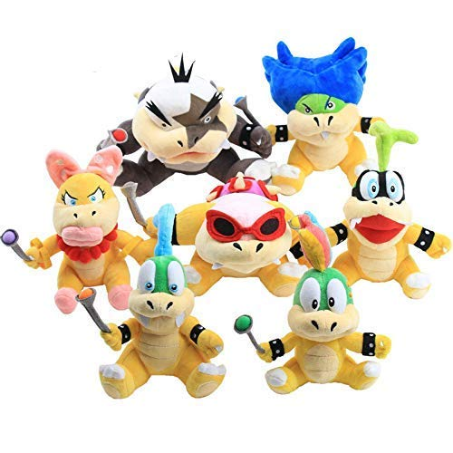 ALXY Plush Toy 7Pcs/Set 18-23Cm Mario Bowser/Koopa Plush Doll Toys Lemmy Roy Morton Koopa Koopalings Bowser Sons Larry Iggy Wendy Ludwig Plush Doll