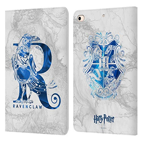 Official Harry Potter Ravenclaw Aguamenti Deathly Hallows IX Leather Book Wallet Case Cover Compatible For Apple iPad mini (2019)