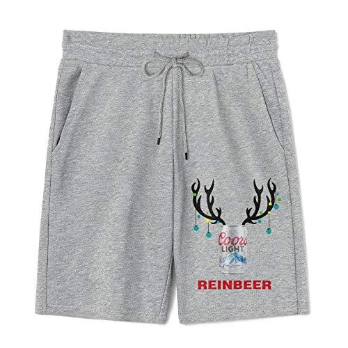 JIU21YOU Mens Beer Logo Pajamas Lounge Shorts Pockets Gym 9 Inches Pants