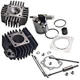 Cylinder Piston Top End Gasket Kit for Suzuki LT A50 / JR50 / LT50 11210-04012-0F0