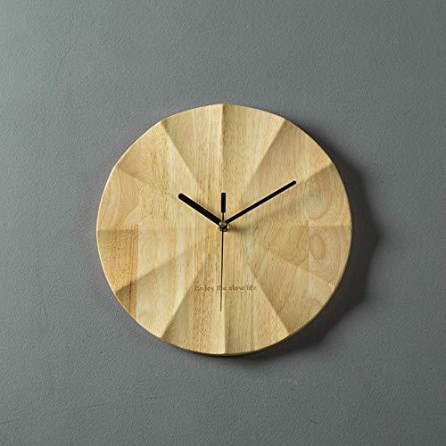 Reloj de pared MYYXGS reloj de pared de madera maciza para el hogar reloj de pared de personalidad mute y no caída reloj de pared dormitorio arte reloj de madera