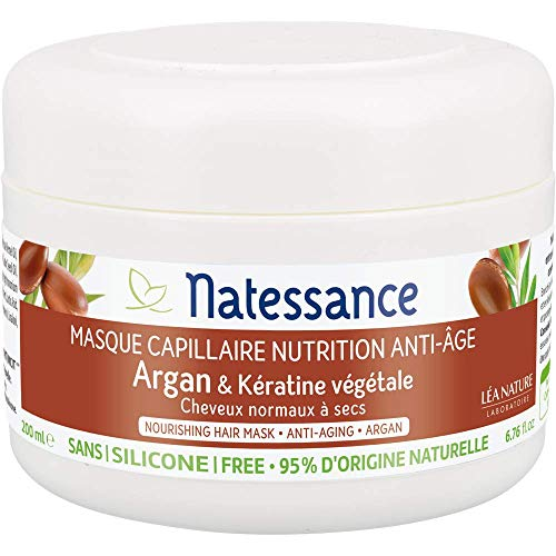Natessance Masque Anti-âge Argan/Kératine Végétale 200 ml