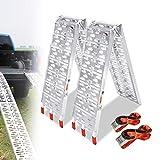 LZQ Rampa di carico pieghevole in alluminio, 340 kg/750 LBS rampa pieghevole in alluminio, 680 kg/1500 LBS portata/coppia rampe di carico (2 pezzi tipo A )