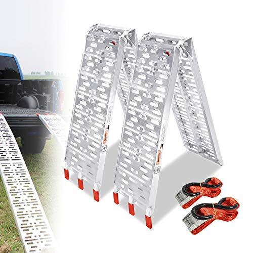 LZQ rampa di carico pieghevole in alluminio, portata di 340 kg, 680 kg la coppia (2 pezzi di tipo A)