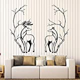 zqyjhkou s Couple Vinyl Wall Decal Office Animal Tree Branches Room Decor Wall Sticker Home Decoration for Living Room Art Mural34x42cm