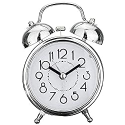 aipipl Alarm Clock Creative Retro Alarm Clock Antique Bronze Round Clock Dual Bell Loud Alarm Clock Bedside Night Light Home Decors Gift Clock Bedside